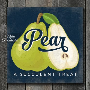 Vintage Pear Art Print - Retro Fruit