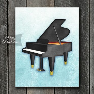 Piano So Blue Art Print