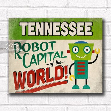 Tennessee Art Print - Robot Capital