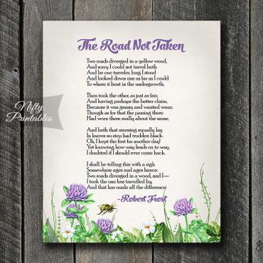 The Road Not Taken Art Print - Robert Frost