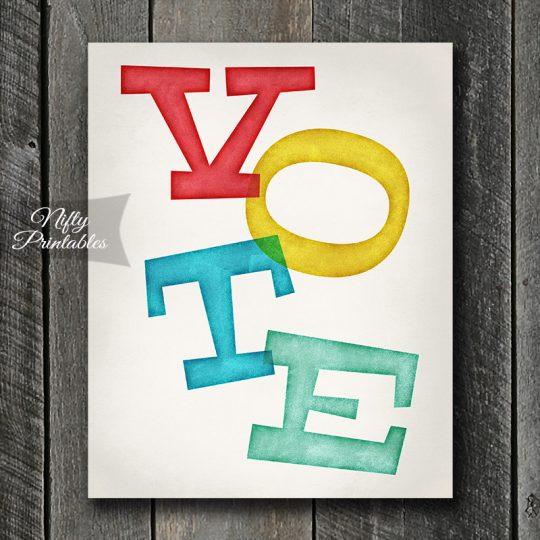 Vote Inkpress Art Print