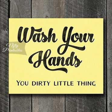 Wash Your Hands Art Print - Yellow