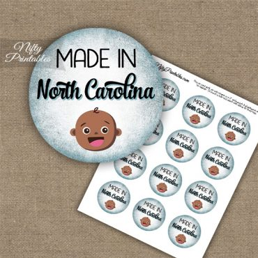 North Carolina Black Baby - Blue Cupcake Toppers