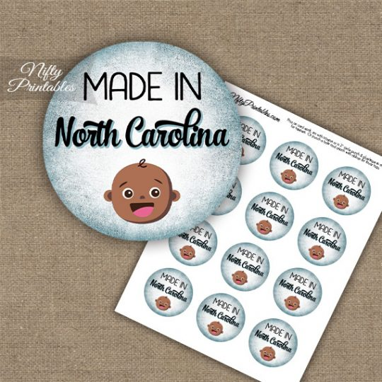 North Carolina Black Baby - Blue Cupcake Toppers