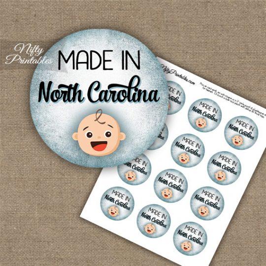 North Carolina White Baby - Blue Cupcake Toppers