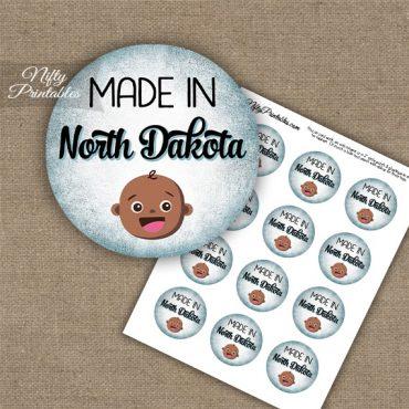 North Dakota Black Baby - Blue Cupcake Toppers