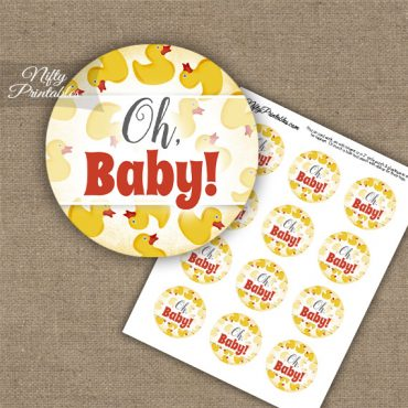 Oh Baby - Baby Shower Toppers - Yellow Rubber Ducky