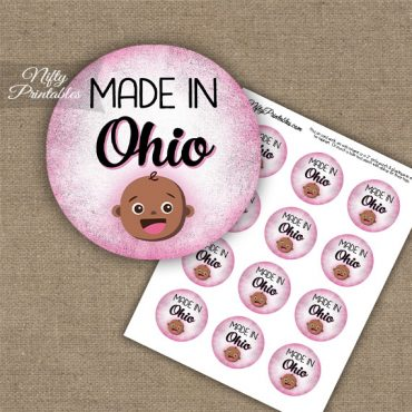 Ohio Black Baby - Pink Cupcake Toppers