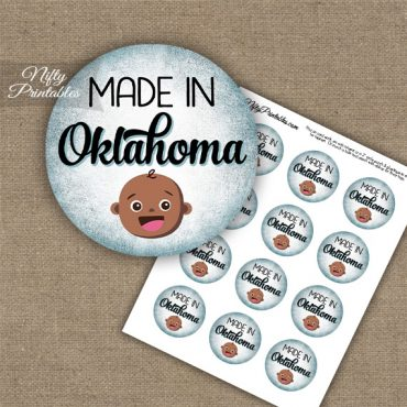Oklahoma Black Baby - Blue Cupcake Toppers
