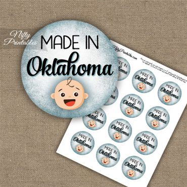 Oklahoma White Baby - Blue Cupcake Toppers