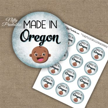 Oregon Black Baby - Blue Cupcake Toppers