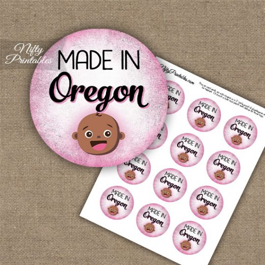 Oregon Black Baby - Pink Cupcake Toppers