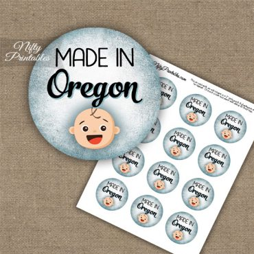 Oregon White Baby - Blue Cupcake Toppers