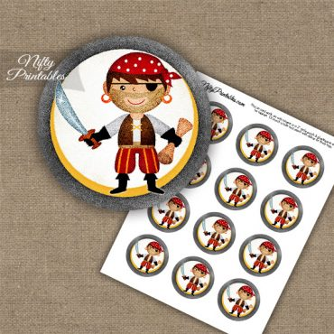 Pirate Arrr Cupcake Toppers