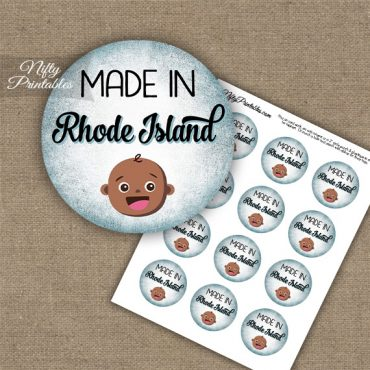 Rhode Island Black Baby - Blue Cupcake Toppers