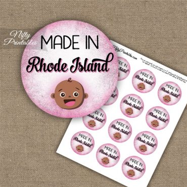 Rhode Island Black Baby - Pink Cupcake Toppers