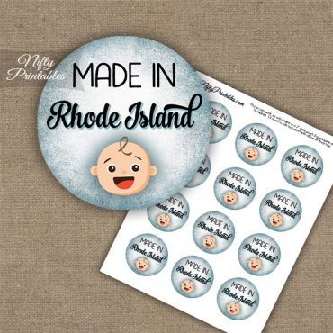 Rhode Island White Baby - Blue Cupcake Toppers