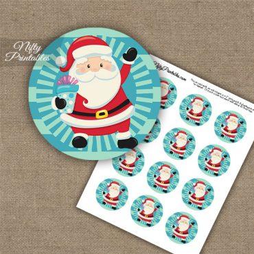 Santa Cupcake Toppers