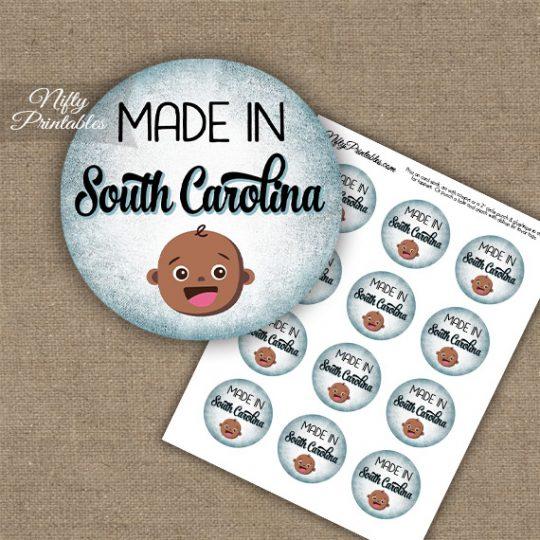 South Carolina Black Baby - Blue Cupcake Toppers
