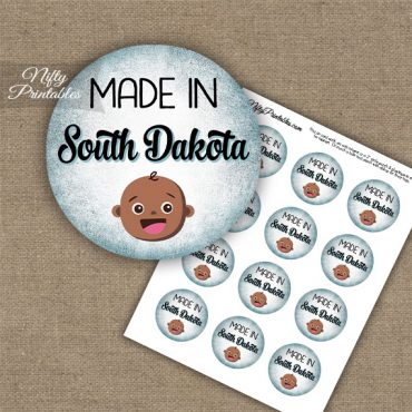 South Dakota Black Baby - Blue Cupcake Toppers