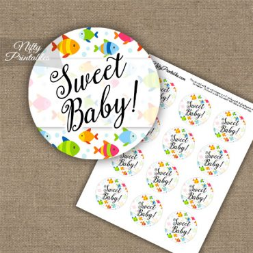 Sweet Baby Colorful Fish - Baby Shower Toppers