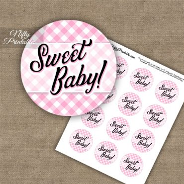 Sweet Baby Gingham - Baby Shower Toppers - Pink
