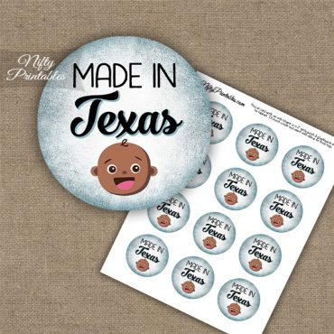 Texas Black Baby - Blue Cupcake Toppers