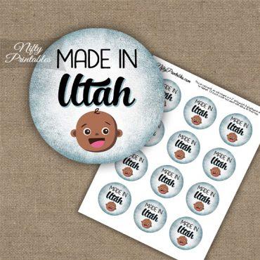 Utah Black Baby - Blue Cupcake Toppers