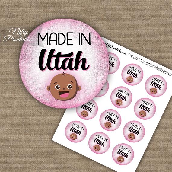 Utah Black Baby - Pink Cupcake Toppers