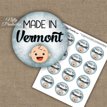 Vermont White Baby - Blue Cupcake Toppers