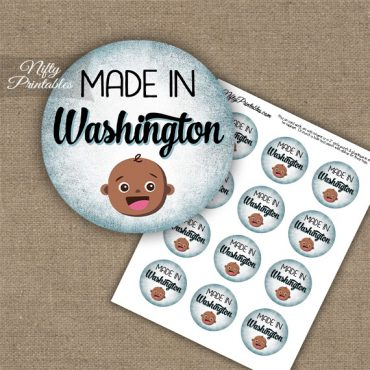 Washington Black Baby - Blue Cupcake Toppers