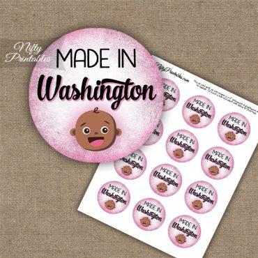 Washington Black Baby - Pink Cupcake Toppers