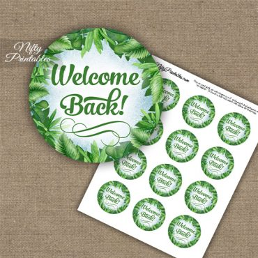 Welcome Back Cupcake Toppers - Greenery