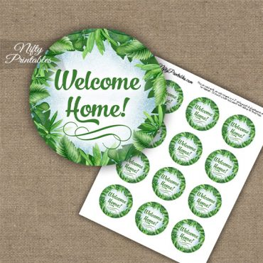 Welcome Home Cupcake Toppers - Greenery