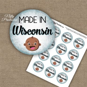 Wisconsin Black Baby - Blue Cupcake Toppers