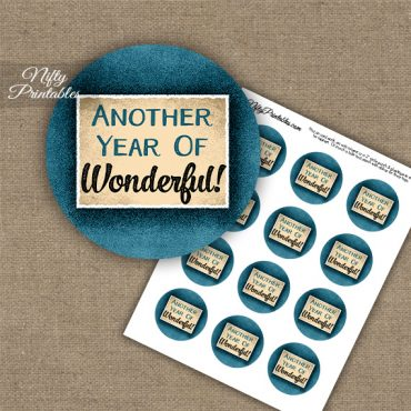 Wonderful Anniversary Cupcake Toppers Blue