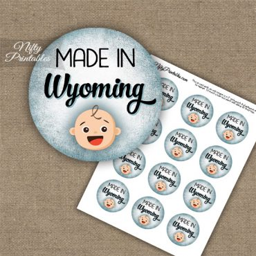 Wyoming White Baby - Blue Cupcake Toppers